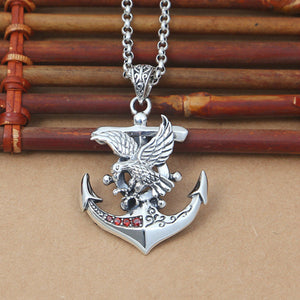 Real 925 Sterling Silver Pendant Anchor Eagle Cross