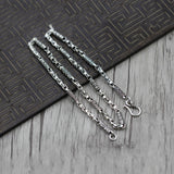 "925 Sterling Silver Necklace Rough Chain Om mani padme hum Men 20"" 22"""