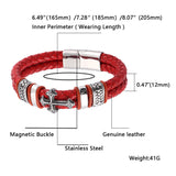 "Men 316L Stainless Steel Bracelet Link Arm Ring Braided Cross 6.5""- 8.9"""