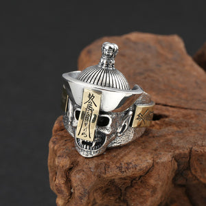 Real 925 Sterling Silver Ring Skeleton Zombie Skull Size 9 10 11 12