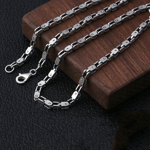 Real Solid 925 Sterling Silver Necklace Bamboo Joint Collarbone Chain 20