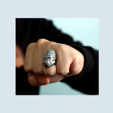 Men's Real 925 Sterling Silver Ring Gorilla Jewelry Size 7 8 9 10 11
