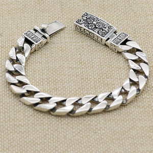 "Real 925 Sterling Silver Bracelet Link Vajra Lection Braided Chain 7.09"" - 9.45"""