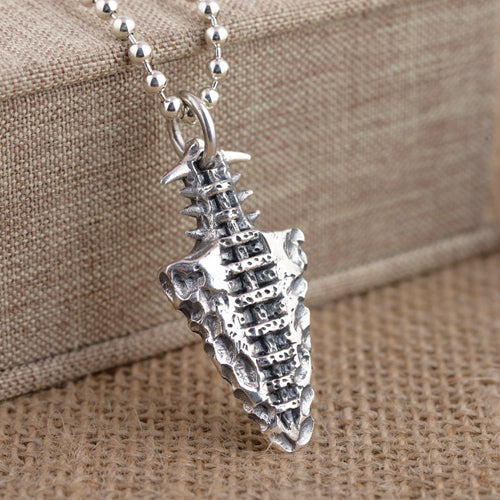 Real 925 Sterling Silver Pendant Stone Implement