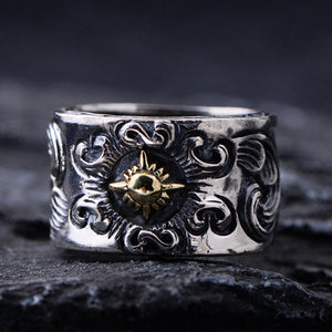 Real 925 Sterling Silver Ring Sun Size 8 9 10 11 12