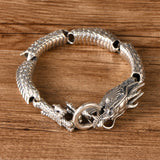 Heavy Men's Solid 925 Sterling Silver Bracelet Link Dragon Chain Jewelry 8.3""