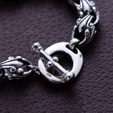 Real 925 Sterling Silver Bracelet Auspicious Clouds Punk TO Buckle Link