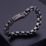 Men 316L Stainless Steel Bracelet Link Personality Retro Concise 8.1''-9.6""