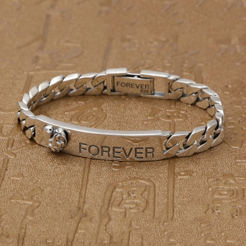 Real 925 Sterling Silver Bracelet Link Chain Foreve Braided Jewelry