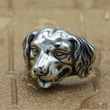 Real 925 Sterling Silver Ring Hound Dog Adjustable Size 8 9 10 11