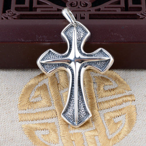 Real Solid 925 Sterling Silver Pendant Cross