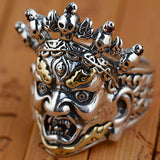 Real Solid 925 Sterling Thai Silver Ring Mens Biker Devils Size 8 9 10 11 12