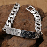 Real 925 Sterling Silver Bracelet Star Pentacle Chain