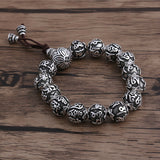 "Real 990 Sterling Silver Bracelet Link Bead Lection Chain Size 4.8"" - 10"""