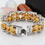 Punk Men 316L Stainless Steel Bracelet Link Biker Creative Clasp Fashion 9.1''