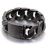 Huge Heavy Punk Men 316L Stainless Steel Bracelet Link Braided Clasp 8.7""