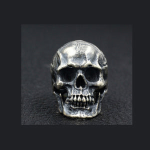Men's Real 925 Sterling Silver Ring Skull Jewelry Size 7 8 9 10 11