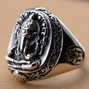 Men's Women's Real 925 Sterling Silver Ring Elephant King Size 7 8 9 10 11 12