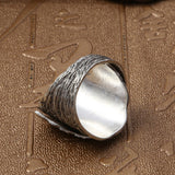 Real 925 Sterling Silver Ring Handmade Leaf Size 7 8 9 10