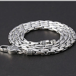 "Real 925 Sterling Silver Necklace Snake Bone Chain 20"" - 30"""