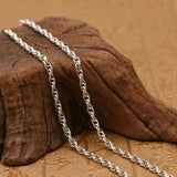 "Real Solid 925 Sterling Silver Necklace Oval Loop Braided Chain 20"" - 26"""