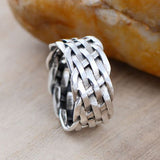 Real 925 Sterling Silver Ring Classic Vintage Braided Size 8 9 10 11 12 13