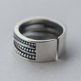 Men Women 925 Solid Sterling Silver Ring Thai Adjustable Open Size 5-9 Jewelry