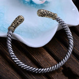 Real Solid 925 Sterling Silver Cuff Bracelet Thick Braided God's Eye Jewelry