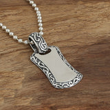 Real Solid 925 Sterling Silver Pendant Dog Tag Engraveable Men's Women's