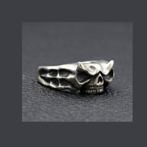 Real 925 Sterling Silver Ring Punk Gothic Skull Size 7 8 9 10 11