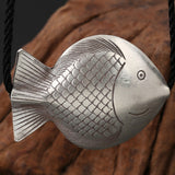 Real 925 Sterling Silver Pendant Fish