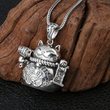 Real 925 Sterling Silver Pendant Plutus Cat Jewelry
