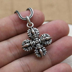 Real 925 Sterling Silver Pendant Vajra Jewelry