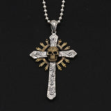 Genuine Solid 925 Sterling Thai Silver Pendant Cross Skull Men's Women's