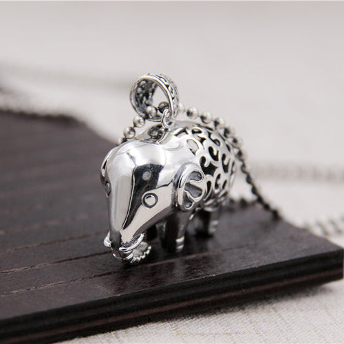 Heavy Genuine Solid 925 Sterling Thai Silver Pendant Elephant Men's Women's