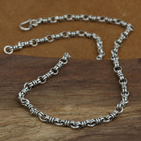 "Genuine Solid 925 Sterling Thai Silver O Loop Knot Chain Men Necklace18""-26"""