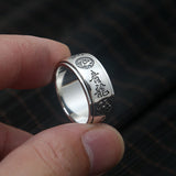 Real 925 Sterling Silver Ring Rotation Men Four Mythic Beast Size 7 8 9 10 11 12