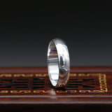 Men's Solid 990 Sterling Pure Silver Ring Women Simple Polished Size 6 7 8 9 10