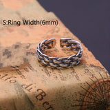 Real 925 Sterling Silver Ring Classic Vintage Braided Open Size 8 9 10