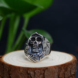 New Real 925 Sterling Silver Rings Men's Death Skeleton Size 8 9 10 11