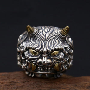New Solid 925 Sterling Thai Silver Ring Men Fine Lucky-Monster Size 8 9 10 11