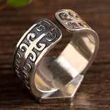 Real 925 Sterling Silver Ring Mystic Nine Open Size 8 9 10 11
