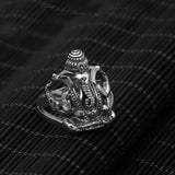 Heavy  Elephant King 925 Sterling Solid Thai Silver Mens Ring Size 8 9 10 11