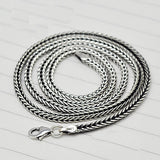 "Genuine Solid 925 Sterling Thai Silver Snake Bones Chain Men's Necklace18""-24"""