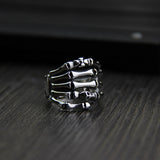 Solid 925 Sterling Silver Ring Skull Finger Men's Size 7 8 9 10 11
