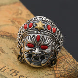 Men Solid 925 Sterling Thai Silver Ring : Wealth Bodhisatt : Open Size 9 to 13