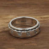 Real 925 Sterling Silver Ring Rotation Men's Scriptures Polish Size 7 8 9 10 11