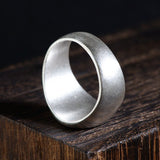 Real 990 Sterling Pure Silver Ring Madonna Matte Size 5 -11