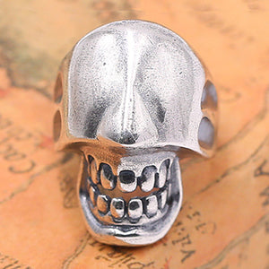 Huge Men's Solid 925 Sterling Silver Ring Skull Open Size 7 8 9 10