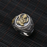 Men's 925 Sterling Solid Thai Silver Ring Elephant-Nose Flower Size 8 9 10 11